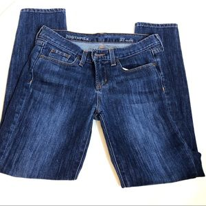 """J Crew Women's Toothpick 27 ankle jeans 8"""" rise"""